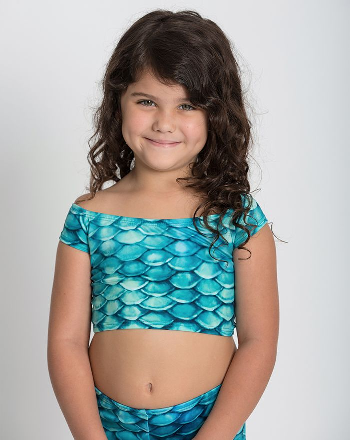 Kids Aqua Adajio Crop Top