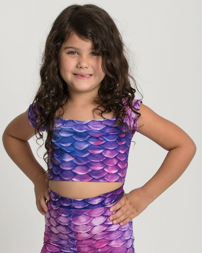 Kids Condy Anemone Crop Top