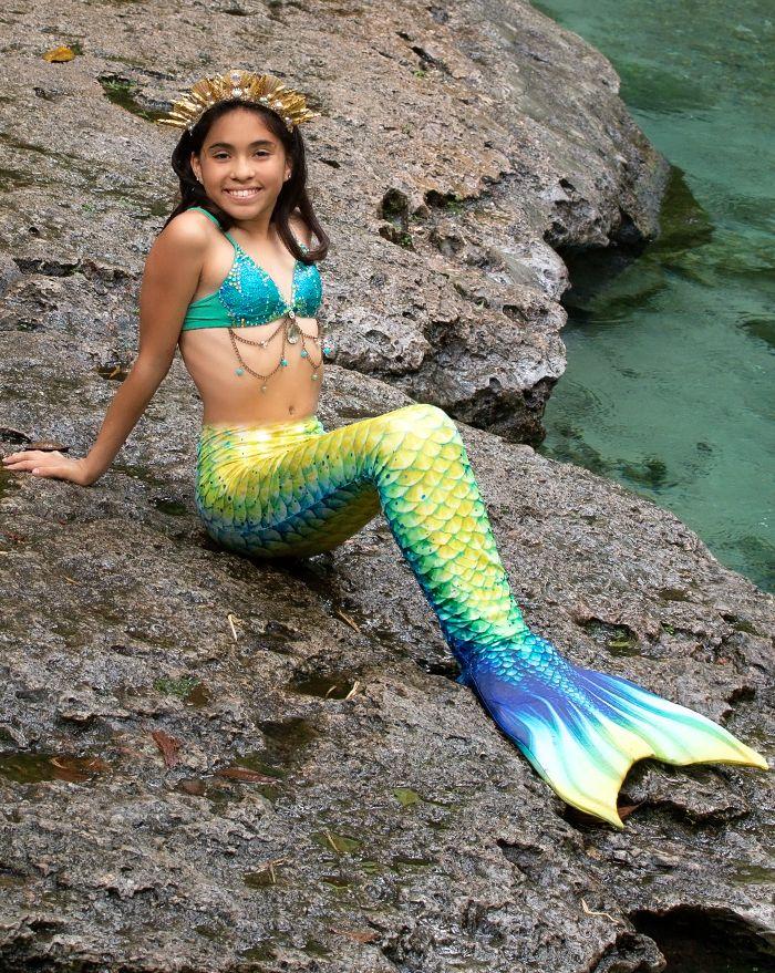 Kids Mahi Mahi Mermaid Tail Combo
